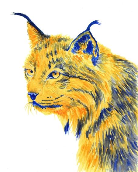 Dualchrome Lynx - 8x10 Watercolour