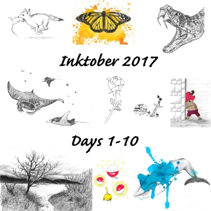 Here are my drawings from days 1-10