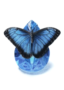 September: Sapphire - Blue Morpho - 5x7 Coloured Pencil